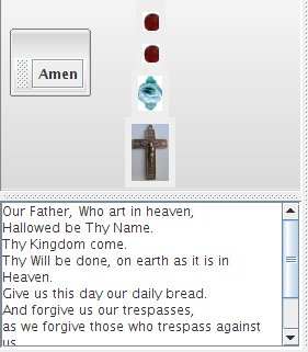 Our Father text-pane